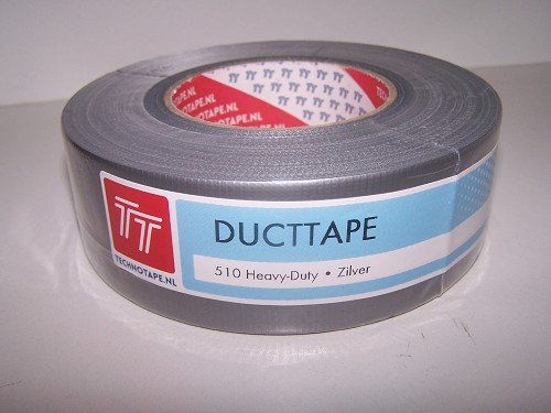 Ducttape heavy-duty 510 zilver  48mm 50meter